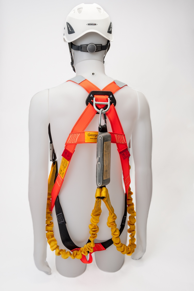 RidgeGear RGH2 Scaffold Harness shown on a model