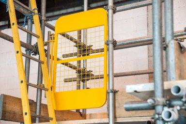 yellow spring ladder access gate