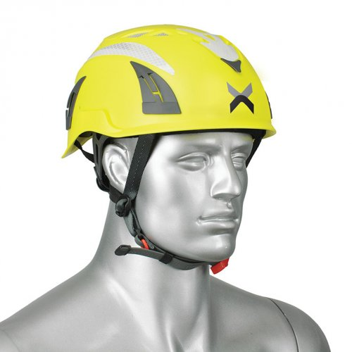 A fluorescent yellow Apex Multi Pro Helmet